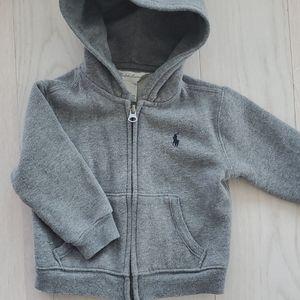 Ralph Lauren baby zipper up hoodie, 12M